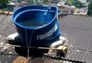 Vídeo: Caixa d'água derrete por conta do calor