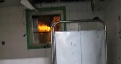 Vídeo: Teto do banheiro do Hospital São José desaba